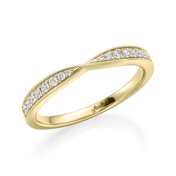 Memoire/Diamantring in Gelbgold 750 mit zus. 0,144 ct. tw, vs von Steinberg - Q-ZLCU4-G7-1QKIEZZ