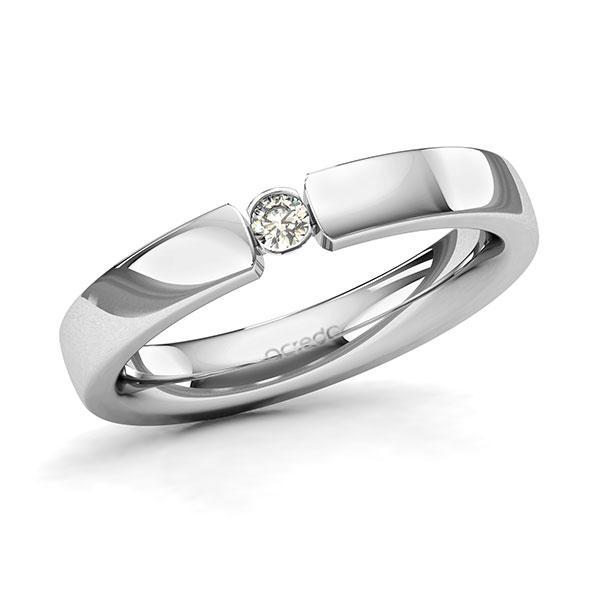 Memoire/Diamantring in Platin 600 mit zus. 0,07 ct. Brillant tw, si von acredo - A-131DNK-D3-8XRMBZ