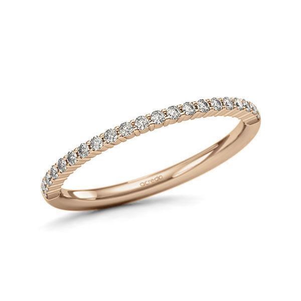 Memoire/Diamantring in Roségold 585 halbausgefasst mit zus. 0,21 ct. Brillant tw, si von acredo - A-11QBTU-E5-1SYRQVZ