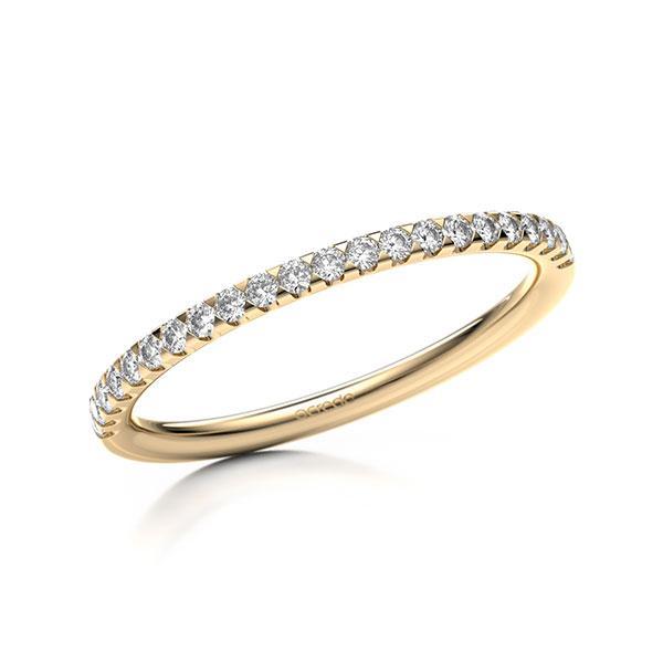 Memoire/Diamantring in Roségold 585 halbausgefasst mit zus. 0,22 ct. Brillant tw, si von acredo - A-11M07D-E5-1SYRISZ