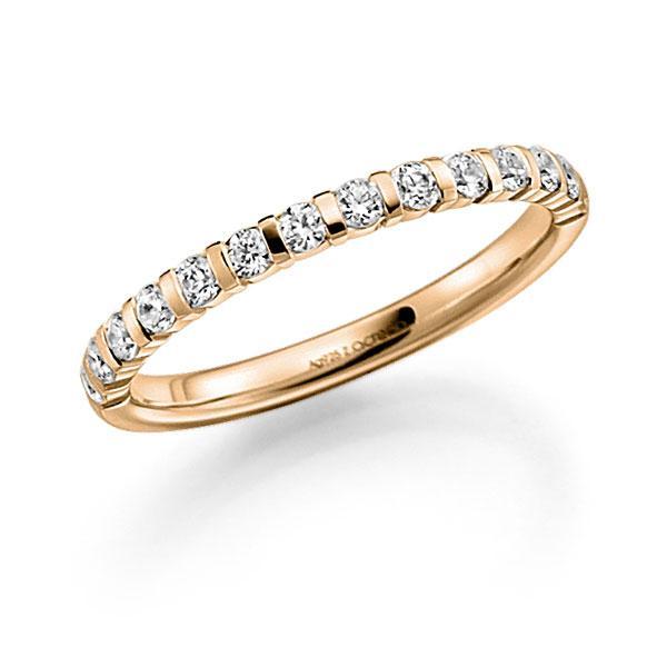 Memoire/Diamantring in Roségold 585 halbausgefasst mit zus. 0,42 ct. Brillant tw, vs von acredo - A-7X7MW-E5-8XRMWZ