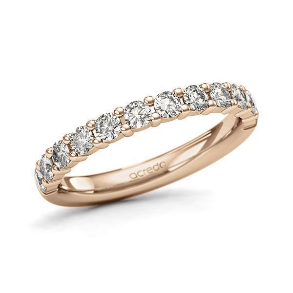 Memoire/Diamantring in Roségold 585 halbausgefasst mit zus. 0,72 ct. Brillant tw, si von acredo - A-127QTA-E5-9QZ7RZ