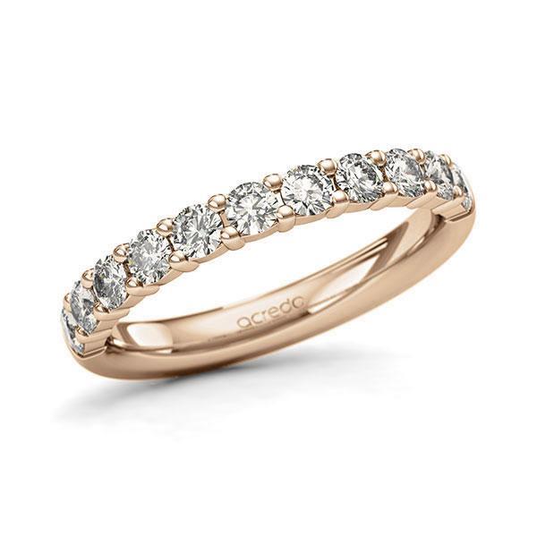 Memoire/Diamantring in Roségold 585 halbausgefasst mit zus. 0,77 ct. Brillant tw, si von acredo - A-127QTE-E5-1Q8AUVZ