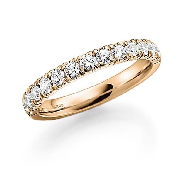 Memoire/Diamantring in Roségold 585 halbausgefasst mit zus. 0,7 ct. Brillant tw, vs von acredo - A-7ILTW-E5-948WLZ