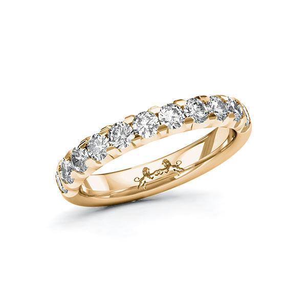 Memoire/Diamantring in Roségold 585 halbausgefasst mit zus. 1,1 ct. Brillant tw, si von Steinberg - Q-11QQBV-E5-1U0JQ3Z
