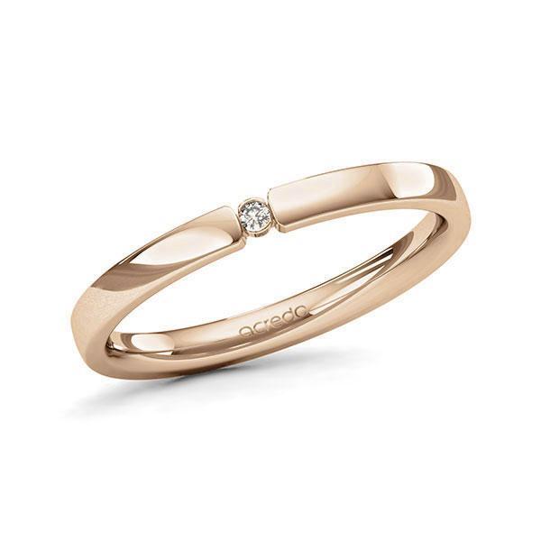 Memoire/Diamantring in Roségold 585 mit zus. 0,015 ct. Brillant tw, si von acredo - A-11MIST-E5-1T634SZ