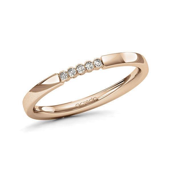 Memoire/Diamantring in Roségold 585 mit zus. 0,05 ct. Brillant tw, si von acredo - A-11MIXD-E5-1SYRFEZ