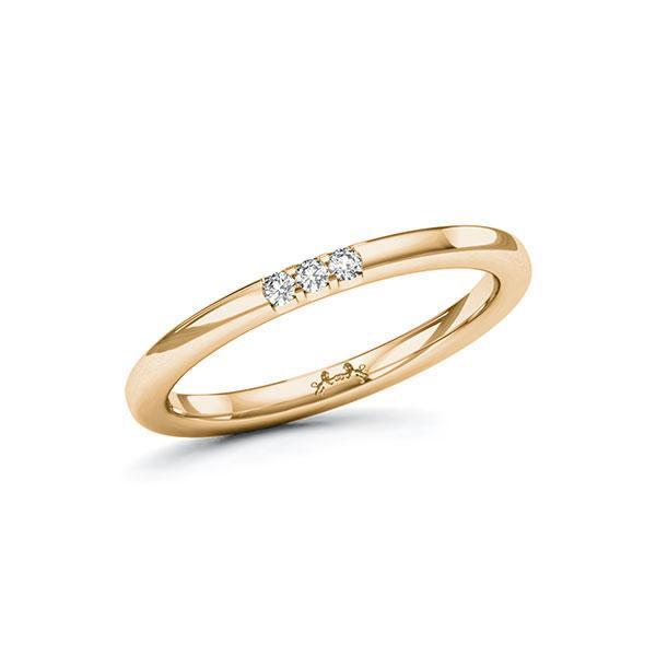 Memoire/Diamantring in Roségold 585 mit zus. 0,06 ct. Brillant tw, si von Steinberg - Q-11QPLC-E5-1U0IYYZ