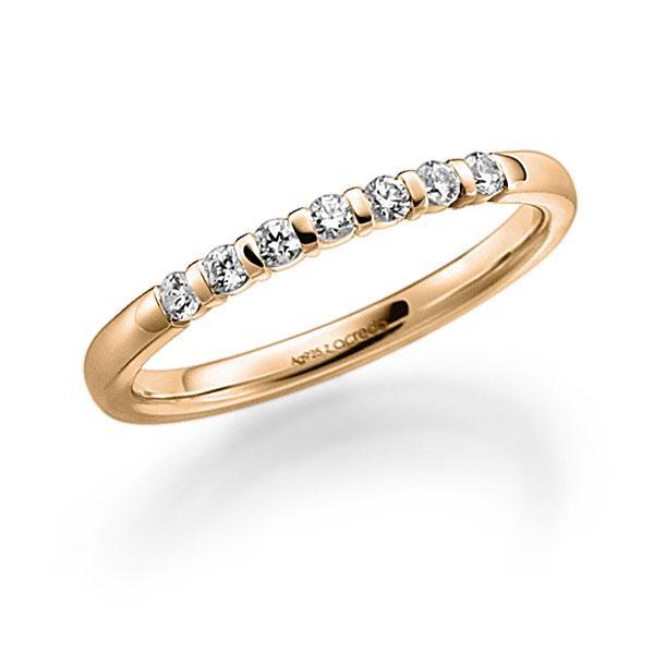 Memoire/Diamantring in Roségold 585 mit zus. 0,14 ct. Brillant tw, vs von acredo - A-7J1N1-E5-9SBR6Z
