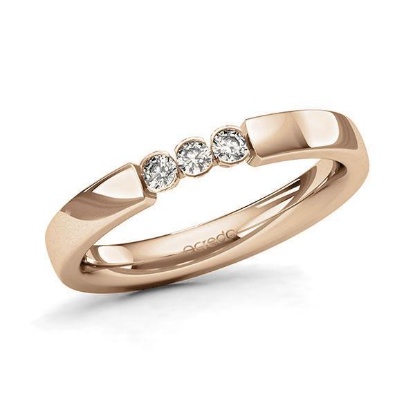 Memoire/Diamantring in Roségold 585 mit zus. 0,15 ct. Brillant tw, si von acredo - A-11MIX1-E5-2LHGNZ
