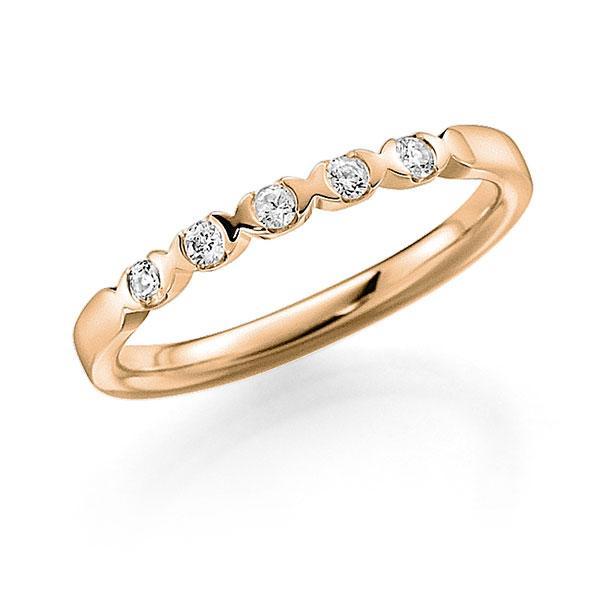 Memoire/Diamantring in Roségold 585 mit zus. 0,15 ct. Brillant tw, vs von acredo - A-3RZ4U-E5-2LHGUZ