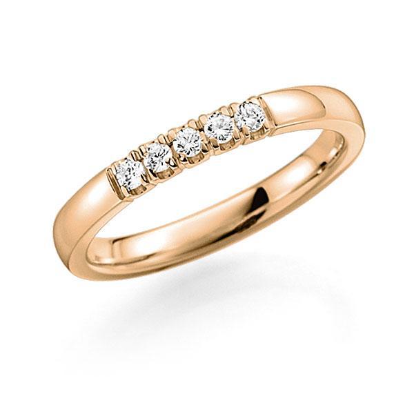 Memoire/Diamantring in Roségold 585 mit zus. 0,15 ct. Brillant tw, vs von acredo - A-7ILDG-E5-2LHE6Z