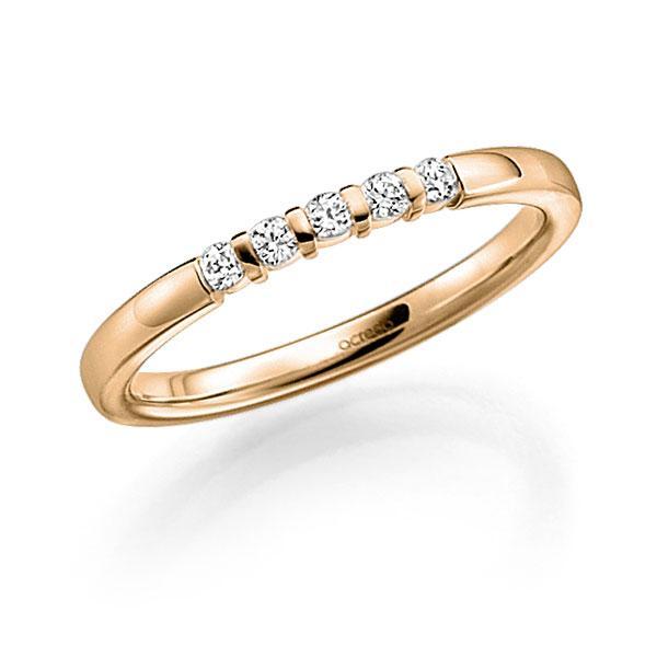 Memoire/Diamantring in Roségold 585 mit zus. 0,15 ct. Brillant tw, vs von acredo - A-7J1NB-E5-2LHGUZ