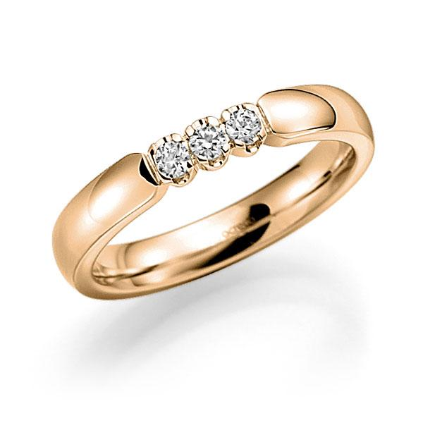 Memoire/Diamantring in Roségold 585 mit zus. 0,15 ct. Brillant tw, vs von acredo - A-7X12L-E5-8XDJWZ
