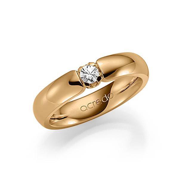 Memoire/Diamantring in Roségold 585 mit zus. 0,15 ct. Brillant tw, vs von acredo - A-SG4G6-E5-1TXE9Z
