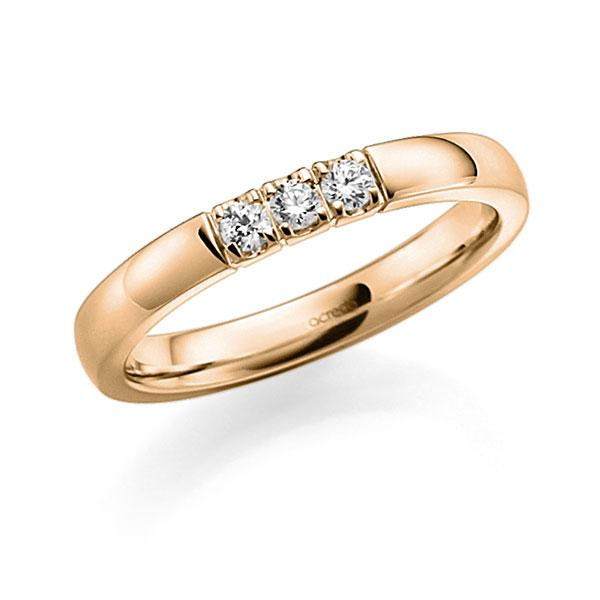 Memoire/Diamantring in Roségold 585 mit zus. 0,18 ct. Brillant tw, vs von acredo - A-7ILU6-E5-8Y0L1Z