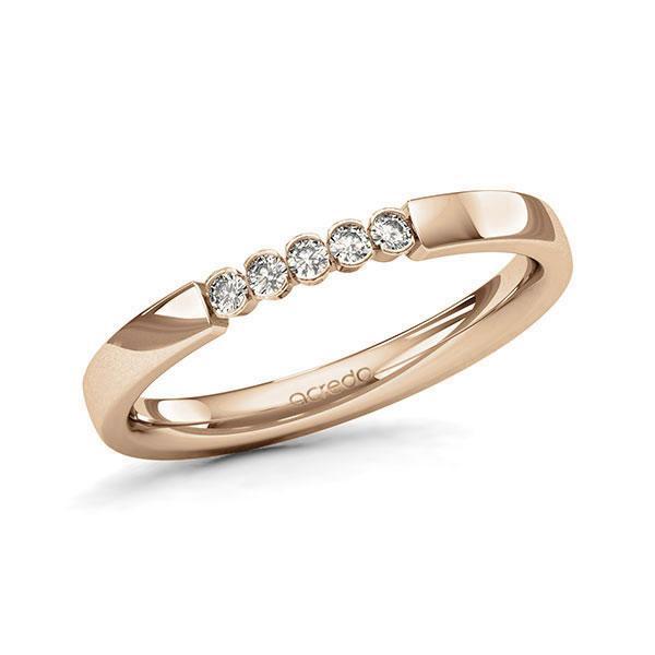 Memoire/Diamantring in Roségold 585 mit zus. 0,1 ct. Brillant tw, si von acredo - A-11MIY5-E5-9QZ9RZ