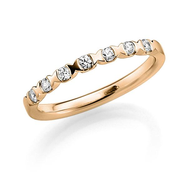 Memoire/Diamantring in Roségold 585 mit zus. 0,21 ct. Brillant tw, vs von acredo - A-3RZ4V-E5-3FTXRZ