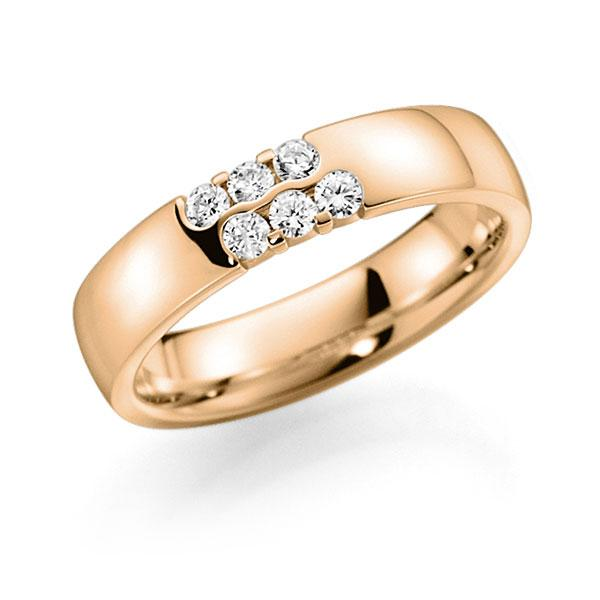 Memoire/Diamantring in Roségold 585 mit zus. 0,24 ct. Brillant tw, vs von acredo - A-7IL9G-E5-2LHG3Z