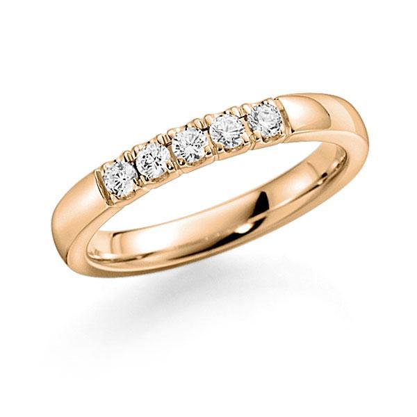 Memoire/Diamantring in Roségold 585 mit zus. 0,35 ct. Brillant tw, vs von acredo - A-7ILV1-E5-8XDQBZ