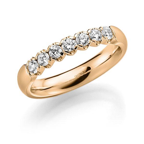 Memoire/Diamantring in Roségold 585 mit zus. 0,35 ct. Brillant tw, vs von acredo - A-7X0PG-E5-2LGGXZ