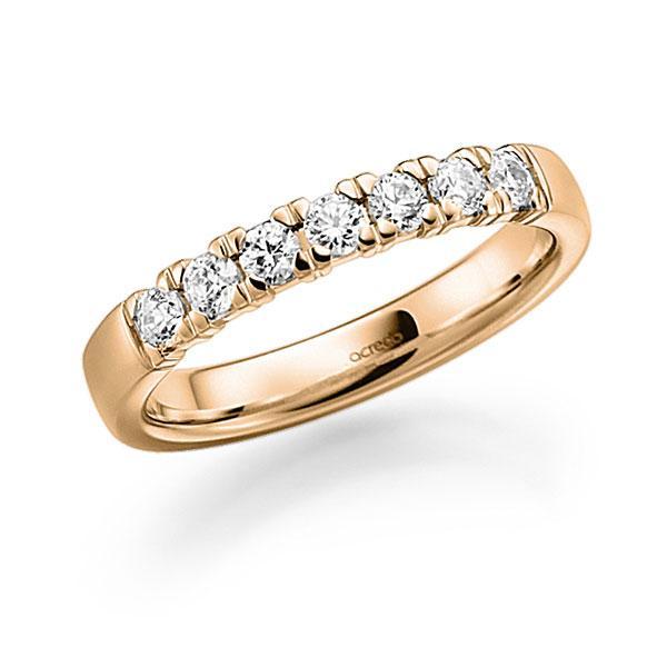 Memoire/Diamantring in Roségold 585 mit zus. 0,49 ct. Brillant tw, vs von acredo - A-7Y8U6-E5-2LGLPZ