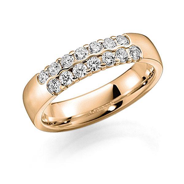 Memoire/Diamantring in Roségold 585 mit zus. 0,56 ct. Brillant tw, vs von acredo - A-7ILA1-E5-2LHGBZ