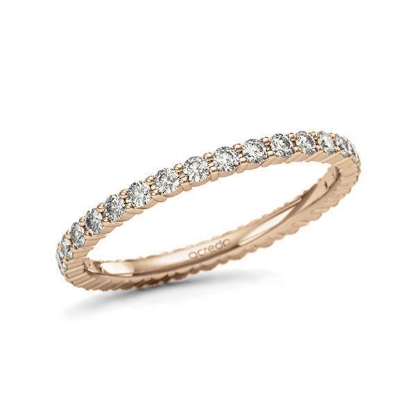 Memoire/Diamantring in Roségold 585 vollausgefasst mit zus. 0,62 ct. Brillant tw, si von acredo - A-11QBUH-E5-1U1D6QZ