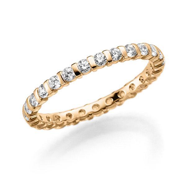 Memoire/Diamantring in Roségold 585 vollausgefasst mit zus. 0,81 ct. Brillant tw, vs von acredo - A-7J1NL-E5-ADXHLZ