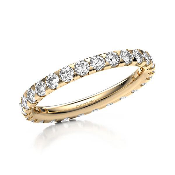Memoire/Diamantring in Roségold 585 vollausgefasst mit zus. 1,3 ct. Brillant tw, si von acredo - A-11M08A-E5-1TVWX7Z