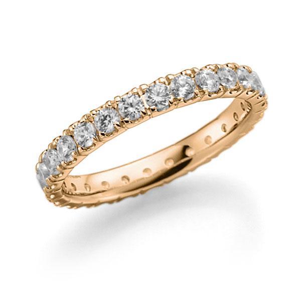 Memoire/Diamantring in Roségold 585 vollausgefasst mit zus. 1,3 ct. Brillant tw, vs von acredo - A-7ILGW-E5-2LHHZZ