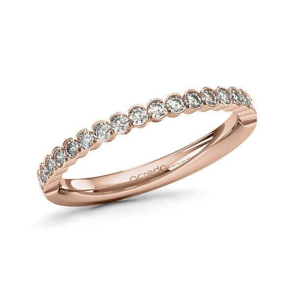 Memoire/Diamantring in Rotgold 585 halbausgefasst mit zus. 0,38 ct. Brillant tw, si von acredo - A-11EIDQ-R5-1T041JZ