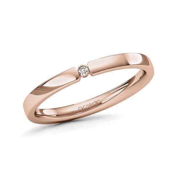 Memoire/Diamantring in Rotgold 585 mit zus. 0,015 ct. Brillant tw, si von acredo - A-11MISZ-R5-1T634SZ