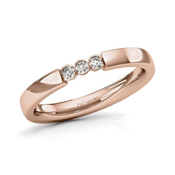 Memoire/Diamantring in Rotgold 585 mit zus. 0,12 ct. Brillant tw, si von acredo - A-11MIWX-R5-9QZ16Z