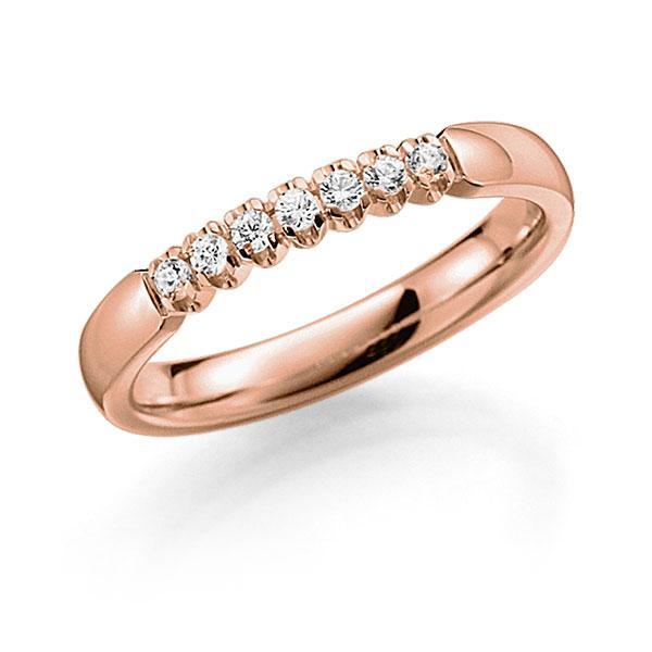 Memoire/Diamantring in Rotgold 585 mit zus. 0,14 ct. Brillant tw, vs von acredo - A-7X0QW-R5-2LGETZ