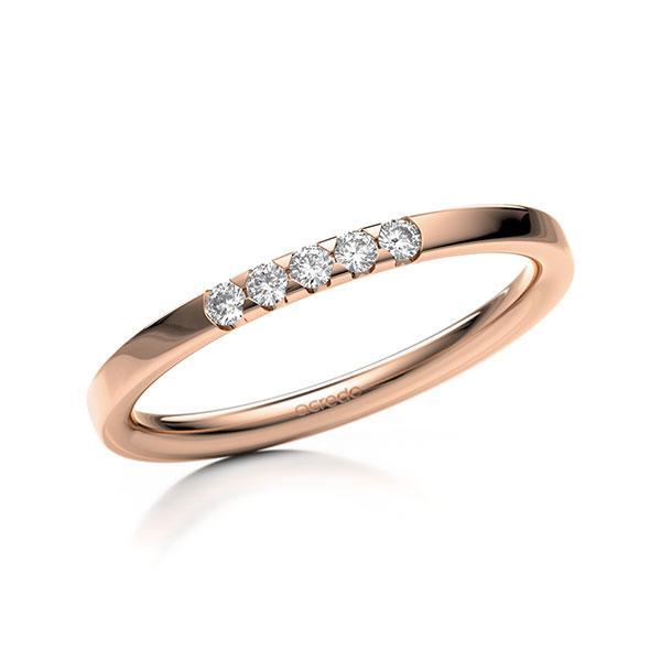 Memoire/Diamantring in Rotgold 585 mit zus. 0,1 ct. Brillant tw, si von acredo - A-11M07M-R5-9QZ9RZ