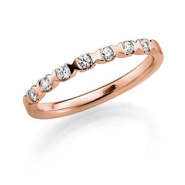 Memoire/Diamantring in Rotgold 585 mit zus. 0,21 ct. Brillant tw, vs von acredo - A-3RZ5T-R5-3FTXRZ