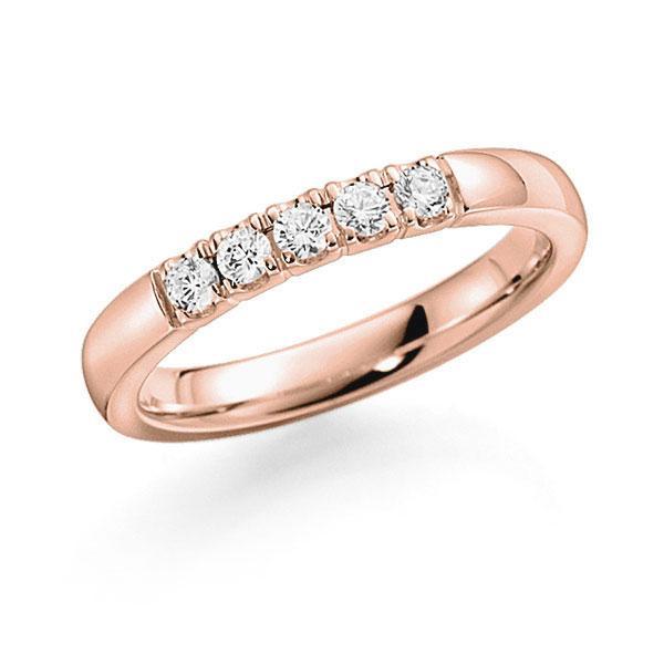 Memoire/Diamantring in Rotgold 585 mit zus. 0,25 ct. Brillant tw, vs von acredo - A-7ILEW-R5-2LHEAZ