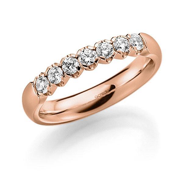Memoire/Diamantring in Rotgold 585 mit zus. 0,35 ct. Brillant tw, vs von acredo - A-7X0R6-R5-2LGGXZ