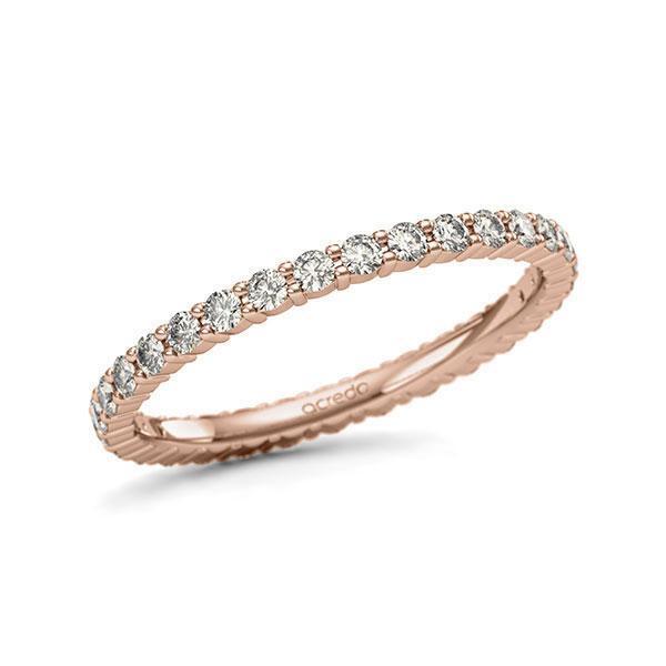 Memoire/Diamantring in Rotgold 585 vollausgefasst mit zus. 0,62 ct. Brillant tw, si von acredo - A-11QBU2-R5-1U1D6QZ