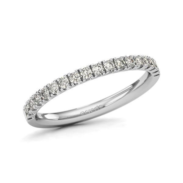Memoire/Diamantring in Weißgold 585 halbausgefasst mit zus. 0,36 ct. Brillant tw, si von acredo - A-11QGDX-W5-1U0KQYZ