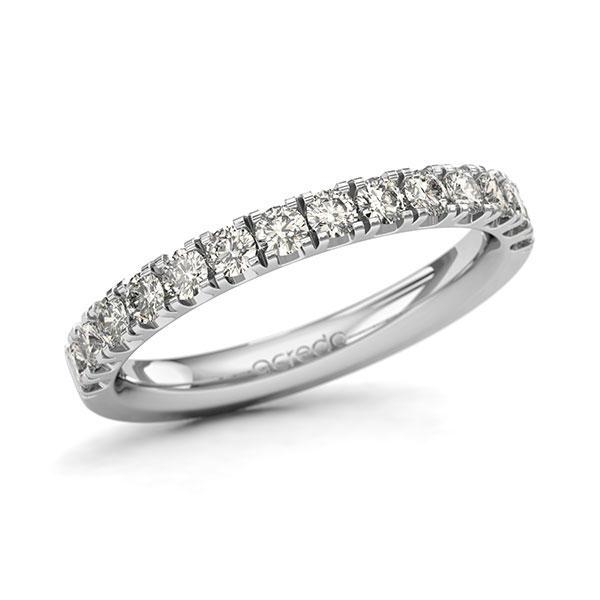 Memoire/Diamantring in Weißgold 585 halbausgefasst mit zus. 0,7 ct. Brillant tw, si von acredo - A-11QGE0-W5-1U0LI2Z
