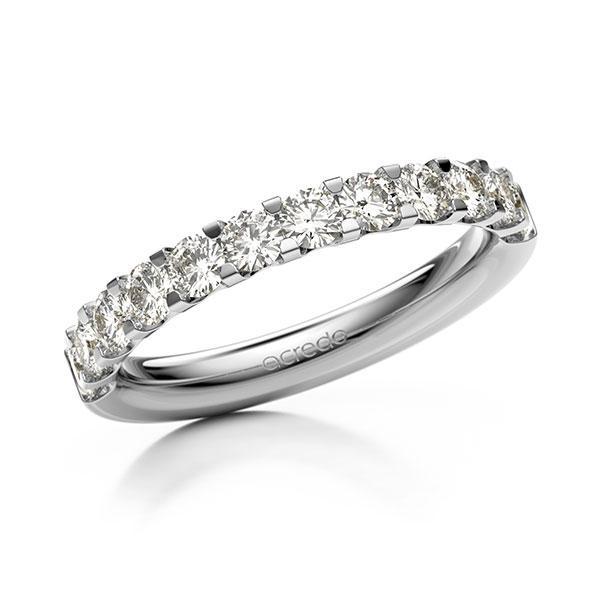 Memoire/Diamantring in Weißgold 585 halbausgefasst mit zus. 0,96 ct. Brillant tw, vs von acredo - A-12EXDI-W5-9S20LZ