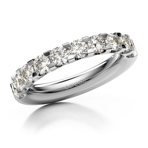 Memoire/Diamantring in Weißgold 585 halbausgefasst mit zus. 1,5 ct. Brillant tw, vs von acredo - A-12EXDP-W5-1C8S81Z