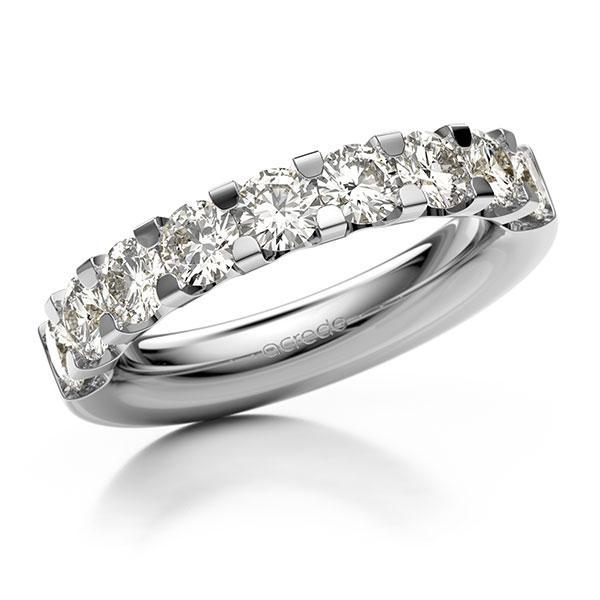 Memoire/Diamantring in Weißgold 585 halbausgefasst mit zus. 1,8 ct. Brillant tw, vs von acredo - A-12EXDT-W5-1C93HWZ