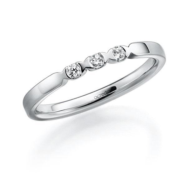 Memoire/Diamantring in Weißgold 585 mit zus. 0,09 ct. Brillant tw, vs von acredo - A-3RZ4C-W5-2LGI7Z