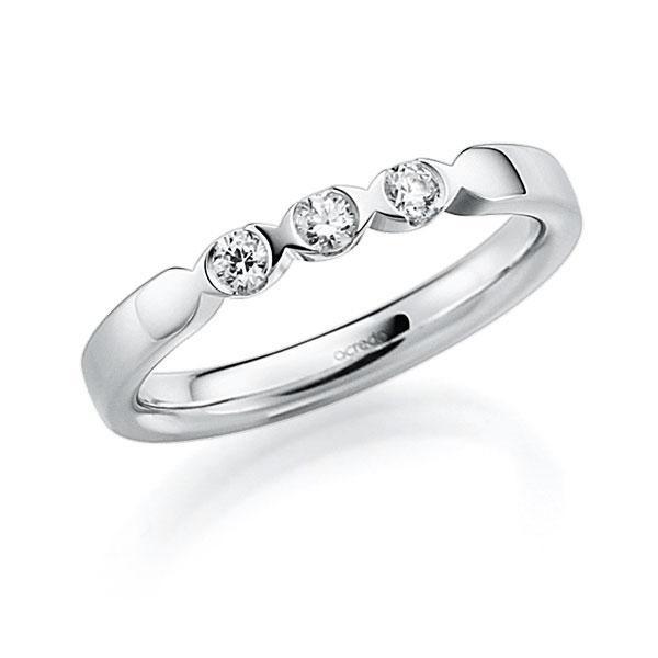 Memoire/Diamantring in Weißgold 585 mit zus. 0,18 ct. Brillant tw, vs von acredo - A-3RZ6E-W5-3FTXTZ