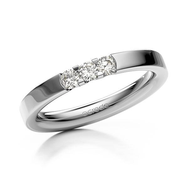Memoire/Diamantring in Weißgold 585 mit zus. 0,24 ct. Brillant tw, vs von acredo - A-12EXAZ-W5-9RE1BZ