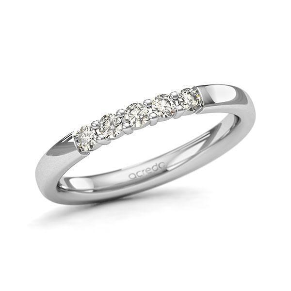 Memoire/Diamantring in Weissgold 585 mit zus. 0,25 ct. Brillant tw, si von acredo - A-11QBUY-W5-8XRMLZ