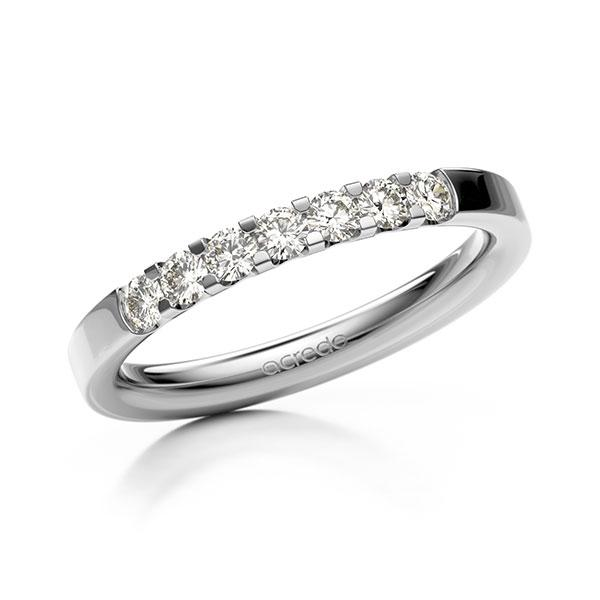 Memoire/Diamantring in Weißgold 585 mit zus. 0,35 ct. Brillant tw, vs von acredo - A-12EXBG-W5-2LGGXZ